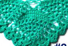 Узор для шали с соломоновыми петлями, 2 часть