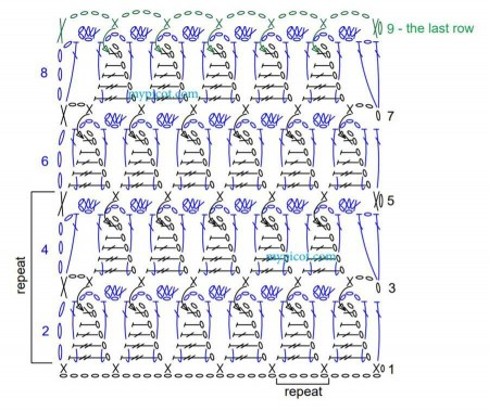 Узор Рельефный треугольники