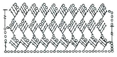 Ажурный узор Маленькие квадратики