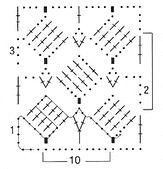 Ажурный узор с повернутыми квадратиками 2