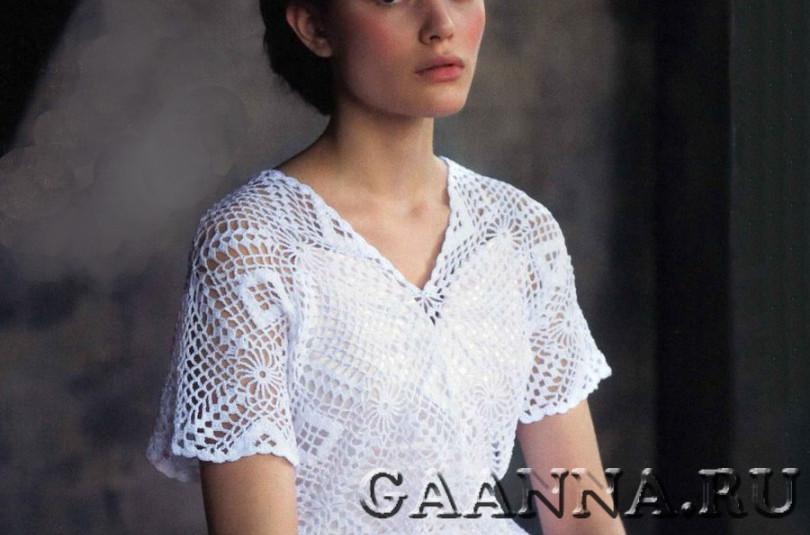 Ажурная блуза из мотивов