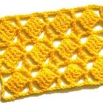 Ажурный узор с повернутыми квадратиками