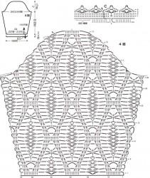 Джемпер крупным узором