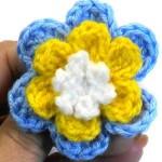 Трехслойный цветочек