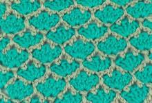 Двухцветный узор Трилистники