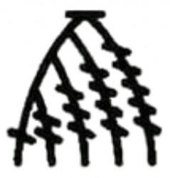 Элемент Треугольник из разновысоких столбиков