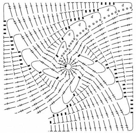 Квадратный мотив со спиралью
