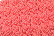 Простая плетенка из пышных столбиков