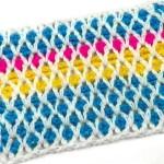 Разноцветный сетчатый узор