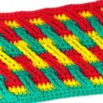 Разноцветный узор с длинными столбиками