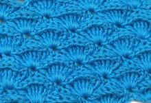 Рельефный узор с веерочками