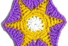 Шестиугольный мотив со звездочкой