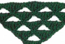 Узор для шали Треугольники