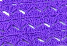 Узор Ромбики из разновысоких столбиков