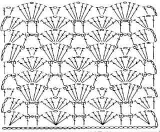 Рельефный ажурный узор