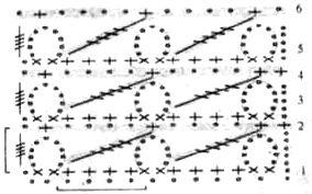 Узор Сеточка с диагоналями