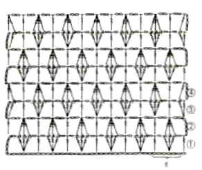Ажурный рельефный узор