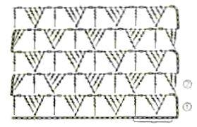 Ажурный узор Хитрые треугольники