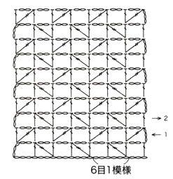 Филейный узор с диагональными столбиками
