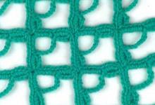 Ажурный узор Большие квадратики