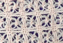 Ажурный узор Квадратики с соломоновыми петлями