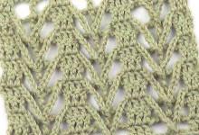 Ажурный узор с накладными цепочками