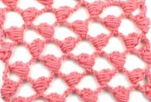 Ажурный узор Сеточка с узелками