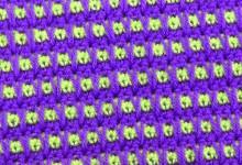 Двухцветный клетчатый узор