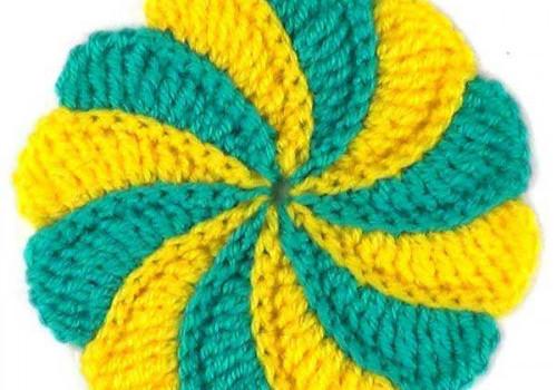 Двухцветный спиральный мотив