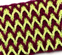 Двухцветный узор Зигзаги