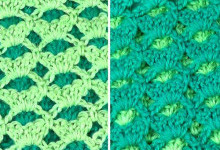 Двухсторонний двухцветный узор