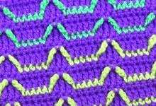 Плотный разноцветный узор