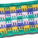 Простой разноцветный узор с рельефными столбиками