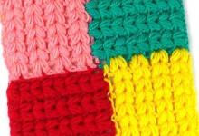 Разноцветный узор для пледа