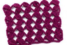 Ажурный сетчатый узор с шишечками