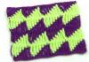 Двухцветный узор из разновысоких столбиков