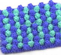 Двухцветный узор Полосочки из попкорна