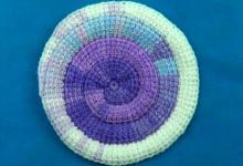 Тунисская спираль на 6 петель