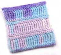 Узор для шарфа из секционной пряжи