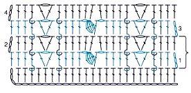 Рельефный вертикальный узор